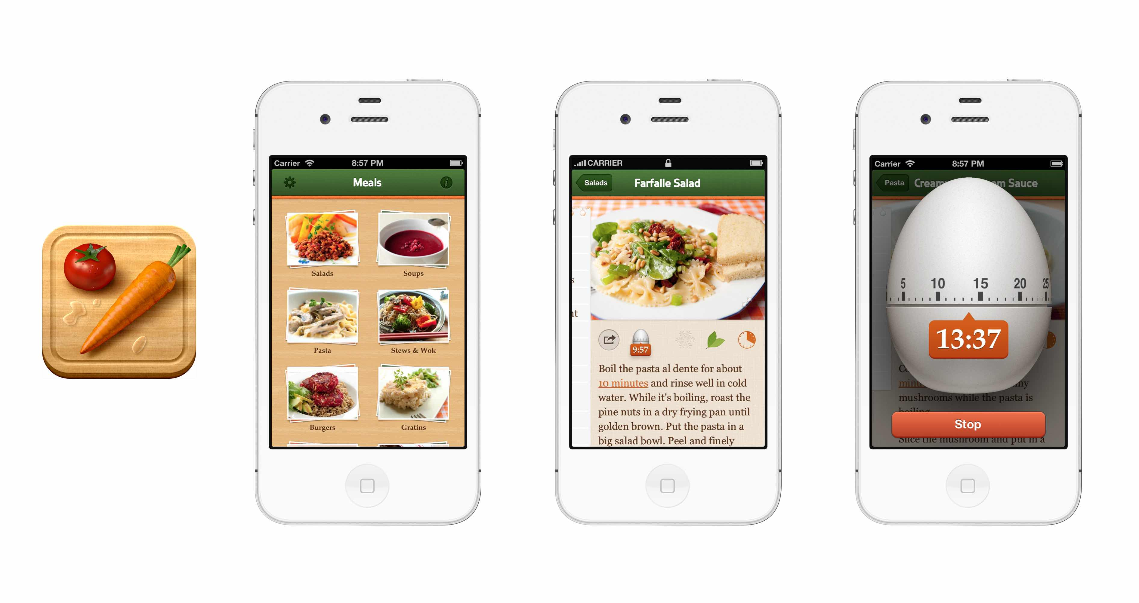 Max rudberg visual user interface designer veggie meals iphone 4 and ios 5 forumfinder Images