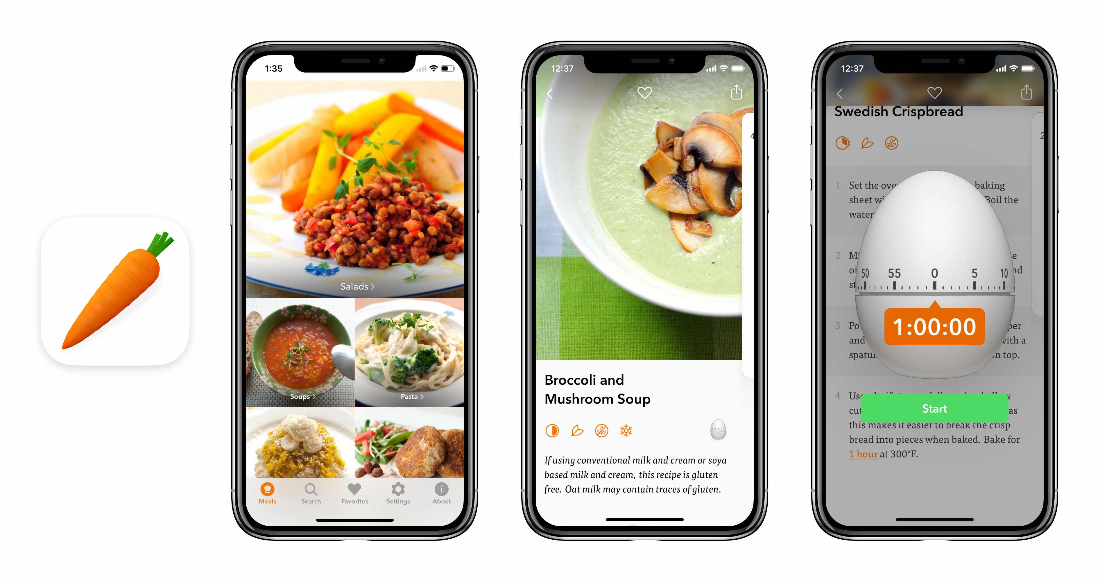 Max rudberg visual user interface designer veggie meals iphone x and ios 11 forumfinder Images